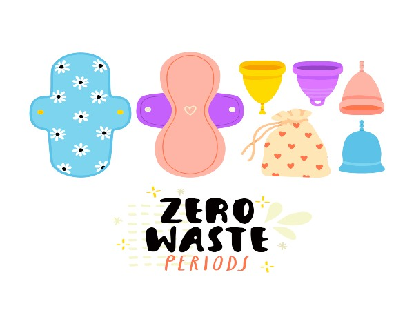 zero waste period vector