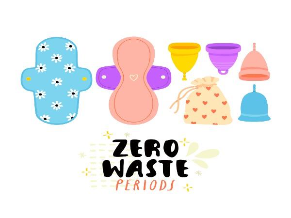 zero waste period vector