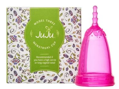 high cervix menstrual cup pink juju model 3