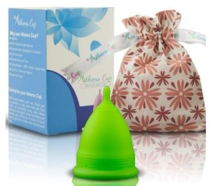 lime green menstrual cup
