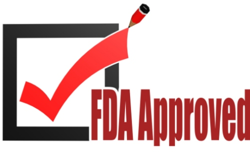 FDA approved with check mark and pen